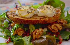 salade chevre chaud miel Cuisine de bistrot   Salade de chèvre chaud au miel