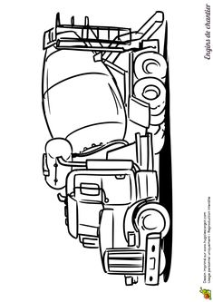 1000 images about coloriages de camions on pinterest camping cars and sons - Dessin a colorier camping car gratuit ...