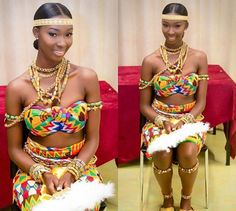 « My fav of all time ❣ African Wedding Attire, African Attire, African Wear, African Dress, African Clothes, African Style, African Traditional Wedding, African Traditional Dresses, Traditional Fashion