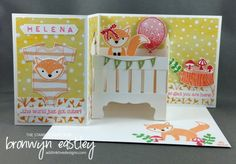 THE STAMP REVIEW CREW – FOXY FRIENDS – addinktive designs, Z-Fold Baby Crib Card