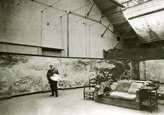 Claude Monet in his studio