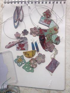 Spring Flower Enamel Pendant | Etsy Copper Sheets, Hand Saw, Enamels, Enamel Jewelry, Flower Pendant, Spring Flowers, One Pic, Handmade Silver, Beads