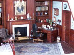 Grandfathers room Tiny World, Barbie Furniture, Doll Houses, Diorama, Dollhouse Miniatures, Study, Dolls, Interior, Room