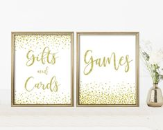 Baby Shower Signs Kit, Printable Set, Editable PDF Template, Gold Confetti, Digital Print, Instant Download, Gifts and Cards, Games Lds Baptism Program, Baby Shower Signs, Gold Confetti, Baby Games, Girl Shower, Shower Games, Baby Shower Decorations, Digital Prints, Pdf
