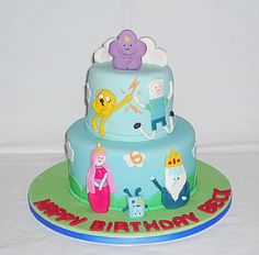 Adventure Time birthday cake by EvaRose Cakes