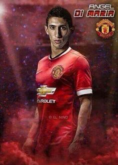Report: Madrid F Angel di Maria Close to Joining Manchester United Di Maria Manchester United, Manchester United Football, Messi And Ronaldo, Premier League Champions, Good Soccer Players, Football Art, Soccer Stars, Old Trafford, Europa League