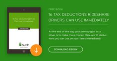 16 tax deductions Uber and rideshare drivers can use to make more money and pay less taxes immediately. Includes a free eBook for Uber Drivers.