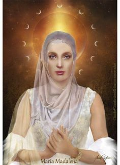 Mary Magdalene had a highly developed spiritual eye and used her intuitive, psychic/clairvoyant abilities to serve others as a teacher and healer.   - Art: Maria Magdalena by Claudio Gianfardoni
