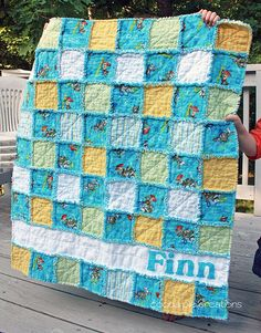 Personalized Boy Rag Quilt by Krysta Fecke, via Flickr