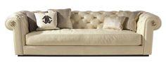 Roberto Cavalli Deva Sofa in Beige #KingsofChelsea #LuxuryDesign #RobertoCavalliHomeInteriors