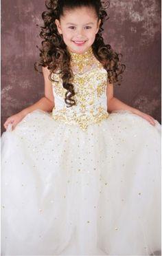 Floor-length Straps Sleeveless Chiffon Flower Girl Dresses - Girls ...