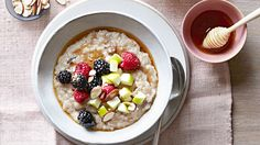 Transform tonight's leftover rice into tomorrow's breakfast by simmering it with milk, Medjool dates, and cinnamon.