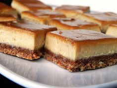 Cinnamon Swirl Caramel Cheesecake Bars  - Made these last night and the look exactly like these pictures.  They also taste just like cheesecake even though they are dairy and gluten-free!  I would highly recommend everone try this recipe!  Your guests or hubby will never know that this cheesecake is actually good for them!!