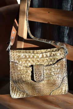 Vintage authentic croc bag 5 OFF original by RedRhinoProductions, $45.00