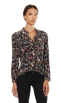 loving the floral print but masculine cut of this shirt
