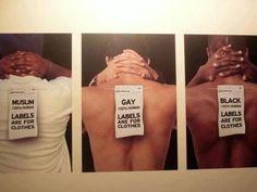 Kein Stempel und kein Etikett für keinen Menschen, egal wie sie in die Welt schauen.