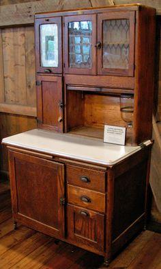 Always wanted one like this. Golden oak antique hoosier cabinet | via lisa strathmann