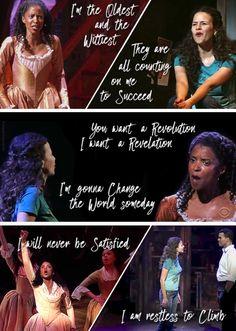 So similar it's creepy. Nina Rosario and Angelica Schuyler.
