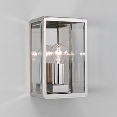 Astro Homefield 160 Outdoor Flush Wall Light, Polished Nickel Finish With Clear Glass - 1095003 - Astro Lighting - Astro Outdoor Wall Lights Outdoor Wall Lighting, Porch Lighting, Outdoor Walls, Direct Lighting, Exterior Lighting, Wall Lights, Contemporary Outdoor Lighting, Lantern Lights, Exterior Wall Light