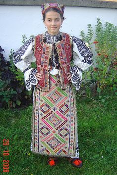 Rumania Folk Costume, Costume Dress, Costumes Around The World, People Of The World, International Fashion, Traditional Dresses, Dance Wear, Beautiful Outfits, What To Wear