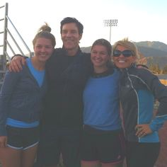 With dear friend Tony Horton, creator of P90X & P90X2 & my daughters after a live event in Azusa, CA <3