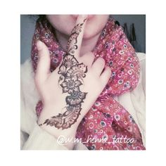 my beautiful detailed black henna tattoo