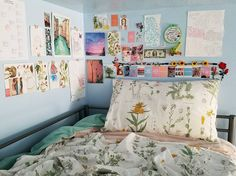 """celestialyouth: """"i cleaned up my room and redid the decorations a bit 🌼🦋 """" Home Office, Pinterest Room Decor, Cleaning My Room, Room Goals, Aesthetic Room Decor, Cool Rooms, My New Room, Dream Bedroom, Dorm Room"""