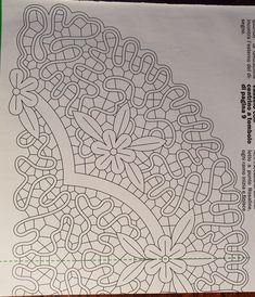 Cutwork Embroidery, Point Lace, Bobbin Lace, Filet Crochet, Projects To Try, Costume, Milan, Pattern, Sketch