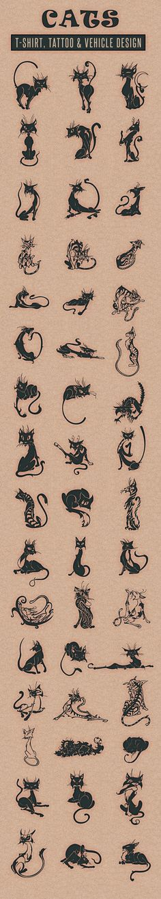 Cats by Nhat Tien, via Behance