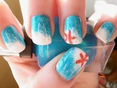 Beach nails....http://@Amber Wardlow....you should do this for Aruba