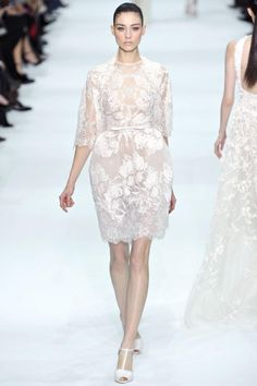 1960s inspired wedding dress  Elie Saab 2012-2013 perfect for honeymoon send off after the reception!