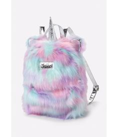 Justice Girl's Magical Unicorn Faux Fur Silver Pastels Mini Backpack Bag NWT – Outfit Ideas for Girls Mini Backpack, Backpack Bags, Little Girl Backpack, Diaper Backpack, Diaper Bag, Unicorn Fashion, Unicorn Rooms, Unicorns And Mermaids, Cute Backpacks