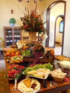 EPIC Event Design-Fall food table display Like the different levels and how celery and carrots displayed Appetizer Table Display, Appetizers Table, Wedding Appetizers, Catering Display, Wedding Appetizer Table, Catering Buffet, Food Display Tables, Cheese Table Wedding, Appetizer Ideas