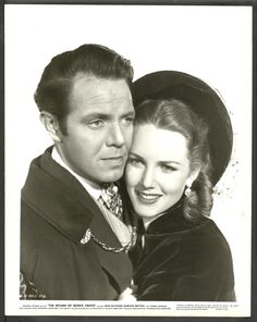 Louis Hayward and Deanna Durbin in The Return of Monte Cristo wearing Joseff Hollywood Jewelry
