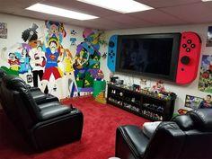 Game Room Decor, Boys Room Decor, Boy Room, Kids Room, Boys Game Room, Deco Gamer, Gamer Bedroom, Video Game Rooms, Video Game Bedroom