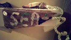 Drift wood and sea glass Driftwood Ideas, Drift Wood, Cinnamon Sticks, Sea Glass, Projects, Log Projects, Driftwood