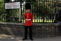 """Laim Carter, a 19 year-old guardsman who has lived in London for two months, in Chelsea, London, on May 23, 2012. When asked what he felt about London hosting the Olympics, Carter said: """"It's good."""" (Reuters/Stefan Wermuth)"""