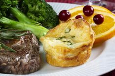 These Cheesy Swiss Popovers are warm, cheesy, and perfectly satisfying! Once you make these, you'll want this dinner roll recipe again and again! Mr Food Recipes, Muffin Tin Recipes, Potluck Recipes, Soup Recipes, Breakfast Recipes, Cooking Recipes, Bread Recipes, Dinner Rolls Recipe