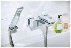 The cascata wall-mounted bath shower mixer #qube #bathroomfurniture #myutopia