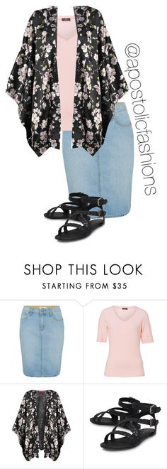 """Apostolic Fashions #1279"" by apostolicfashions ❤ liked on Polyvore featuring Paige Denim, Basler and Boohoo"