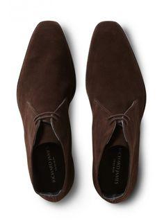 Contemporary Savile Row Tailors, Savile Row Bespoke, Custom-Made, Made-To-Measure Men\'s Suits   RICHARD JAMES DARK BROWN SUEDE CHUKKA - www.richardjames.co.uk
