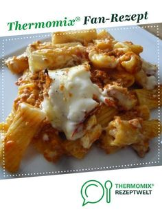 Pasta bake al forno from Erlebniskochen. A Thermomix ® recipe from the main course with meat category at www.de, the Thermomix ® Community. Pasta bake al forno Lena Martini Rezepte Pasta bake al forno from Erlebniskochen. Crock Pot Recipes, Beef Recipes, Baking Recipes, Pasta Casserole, Pasta Bake, Casserole Recipes, Spaghetti Recipes, Pasta Recipes, Soup Recipes
