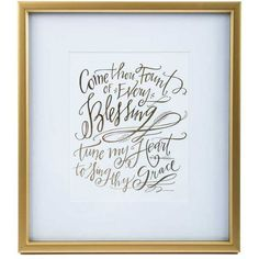 Come Thou Fount Framed Wall Art ($35) ❤ liked on Polyvore featuring home, home decor, wall art and framed wall art