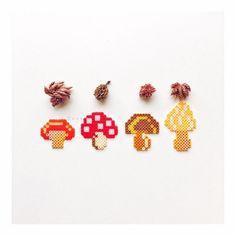Mushrooms hama beads by susuxiaocha