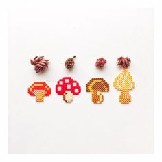 Mushrooms hama beads by susuxiaocha