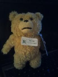 $40 + 5.00 SHIPPING TED 8 INCH TALKING PLUSH TEDDY BEAR PG-R RATED But Only 5 phrases...Clean-talking