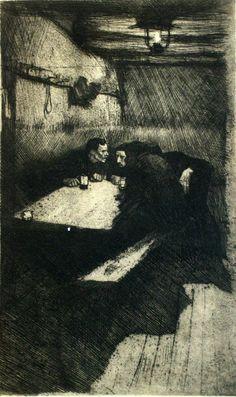 "Kathe Kollwitz, ""Conspiracy"" etching"