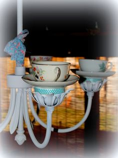 Crafty Home Cottage: Tea Cup Chandelier
