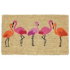 flamingo bay summer doormat