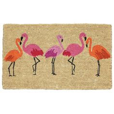 flamingo bay summer doormat